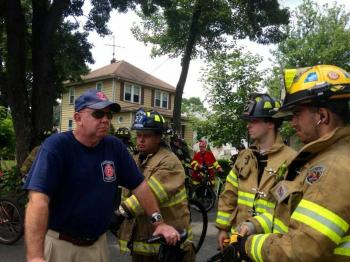 Team East Franklin Participates in Annual Firefighter Bicycle Race