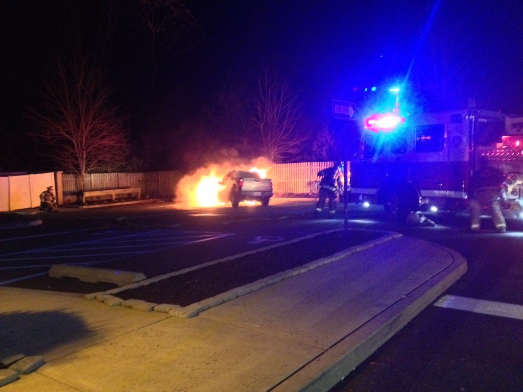 Motor Vehicle Fire at Wendy's