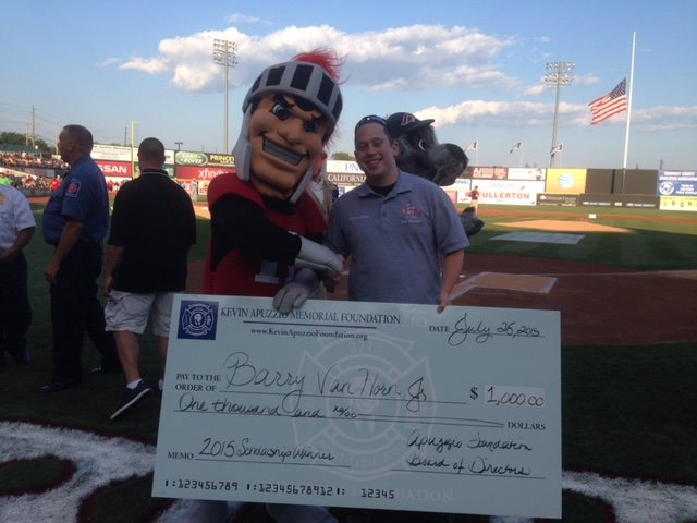 Kevin Apuzzio Memorial Foundation at the Somerset Patriots Game