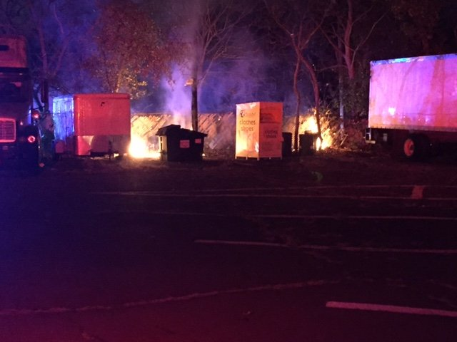 Fence Fire at the intersection of Davis Avenue and Frank Street