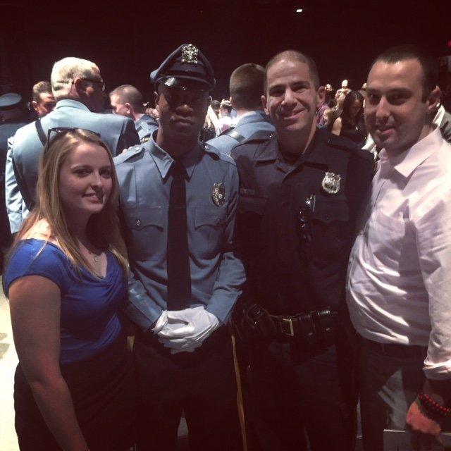 FF Lance Lebrew Graduates Police Academy