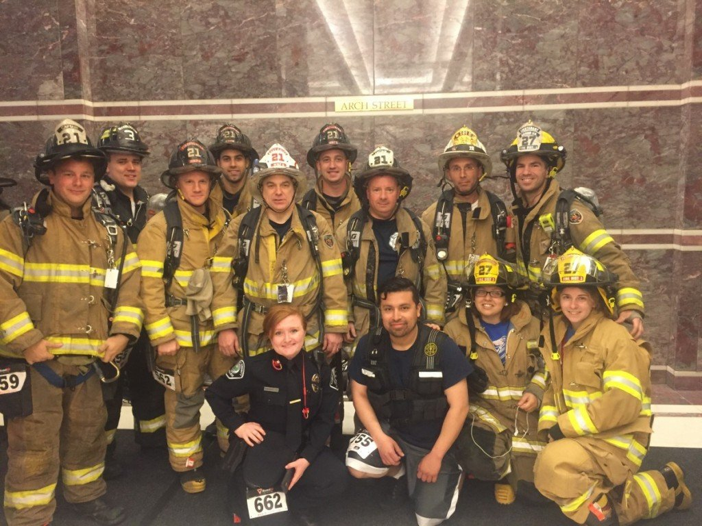 Members Participate in the 2016 Fight for Air Climb in Philadelphia, PA