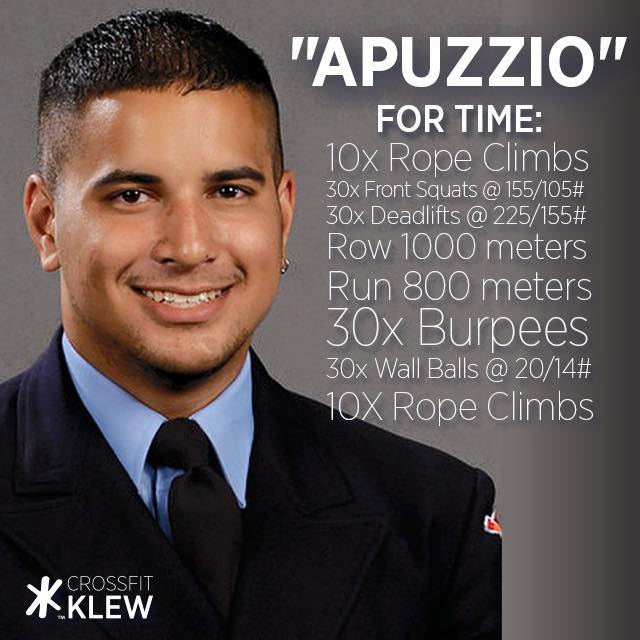 Crossfit KLEW honors brother FF Kevin Apuzzio with a workout