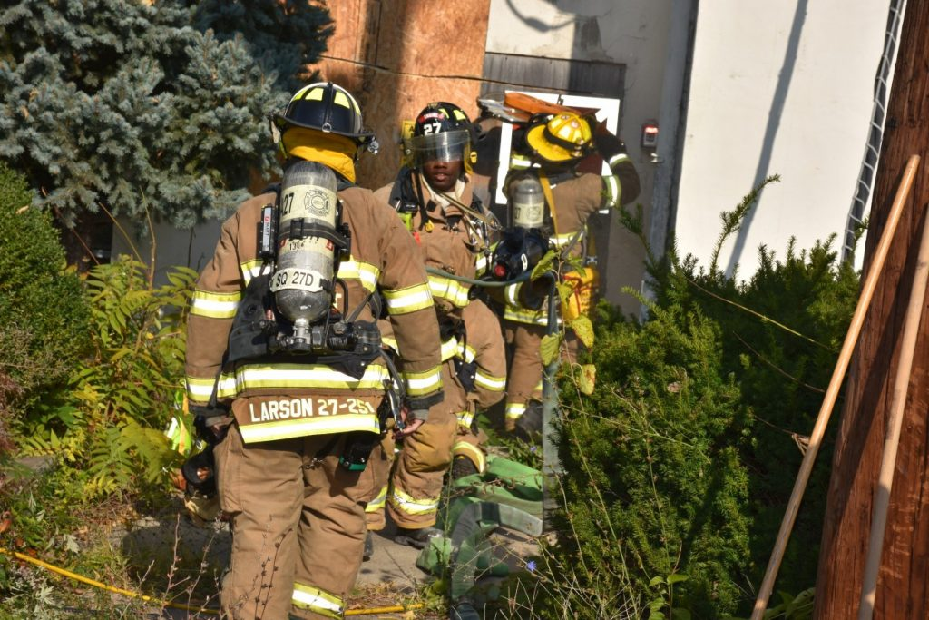 Station 27's Monthly Drill at Acquired Structure on Lewis Street