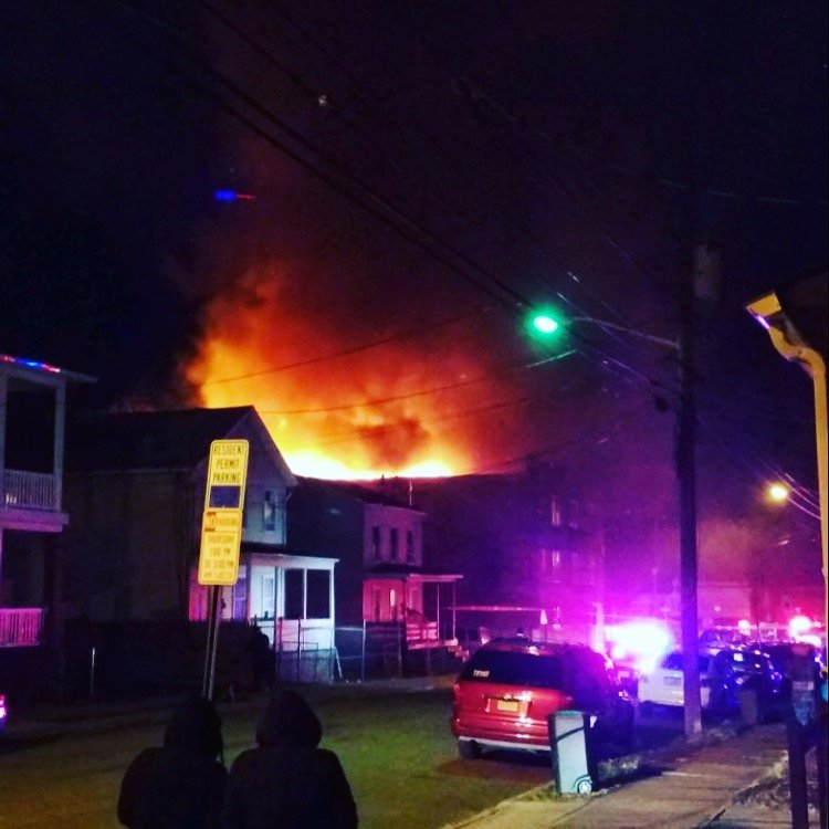 Firefighters Battle 3-Alarm Blaze in Freezing Temps in the City of New Brunswick