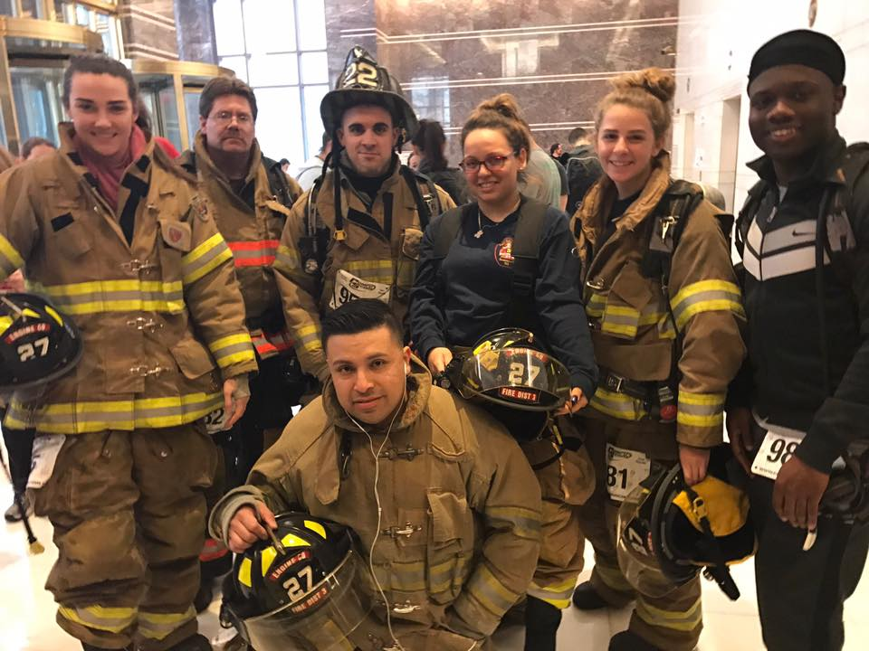 Firefighters Participate in the Fight For Air Climb in Philadelphia, PA