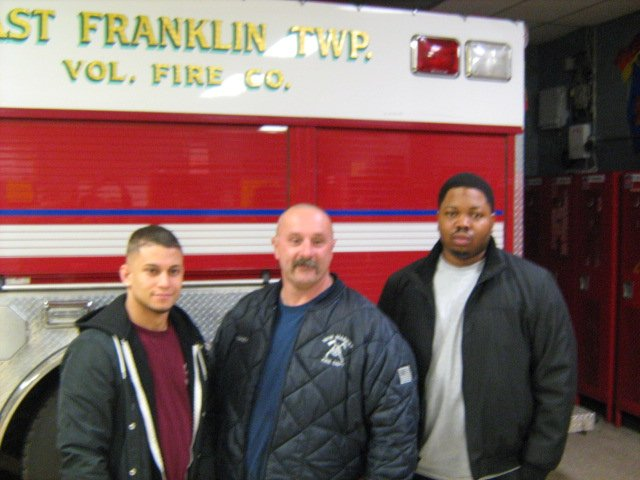 Station 27 swears in 3 new Firefighters and 2 veteran FF's become Life Members